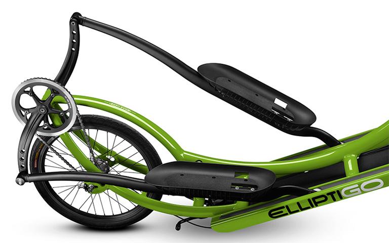 Elliptigo groen pedalen