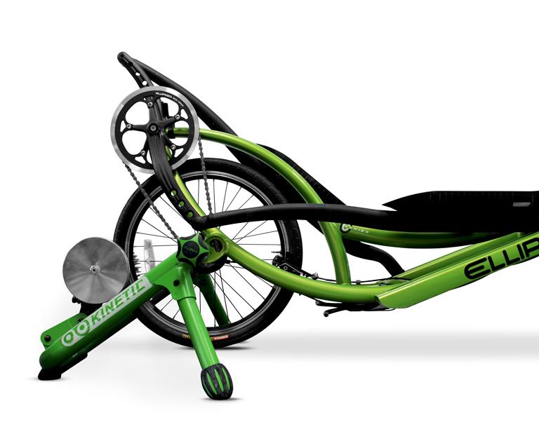 Kinetic bikestand elliptigo indoor trainen